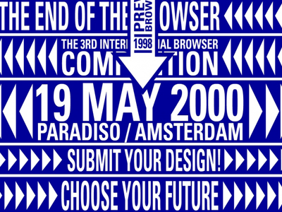 Design for the International Browserday Paradiso, 2000