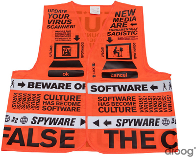 Beware of Software vest, for sale at Droog.com