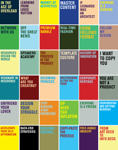 Book Title Slogans from Everyone is a Designer in the Age of Social Media, 2010