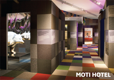 Exhibition MOTI HOTEL by Design Politie